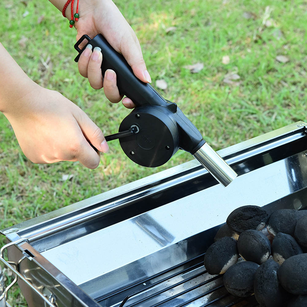 Hand Crank Powered Fan Air Blower For Picnic Barbecue