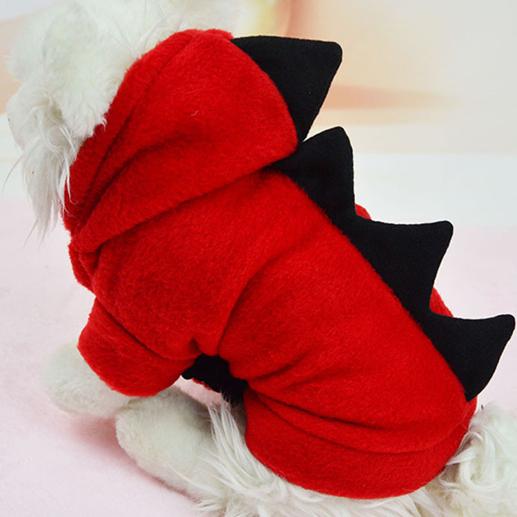 Novelty Pet Dog Hoodie For Small Dogs Clothes Winter Dinosaur Puppy Coat Clothing For Chihuahua Cat Costume XS S M L XL 1293