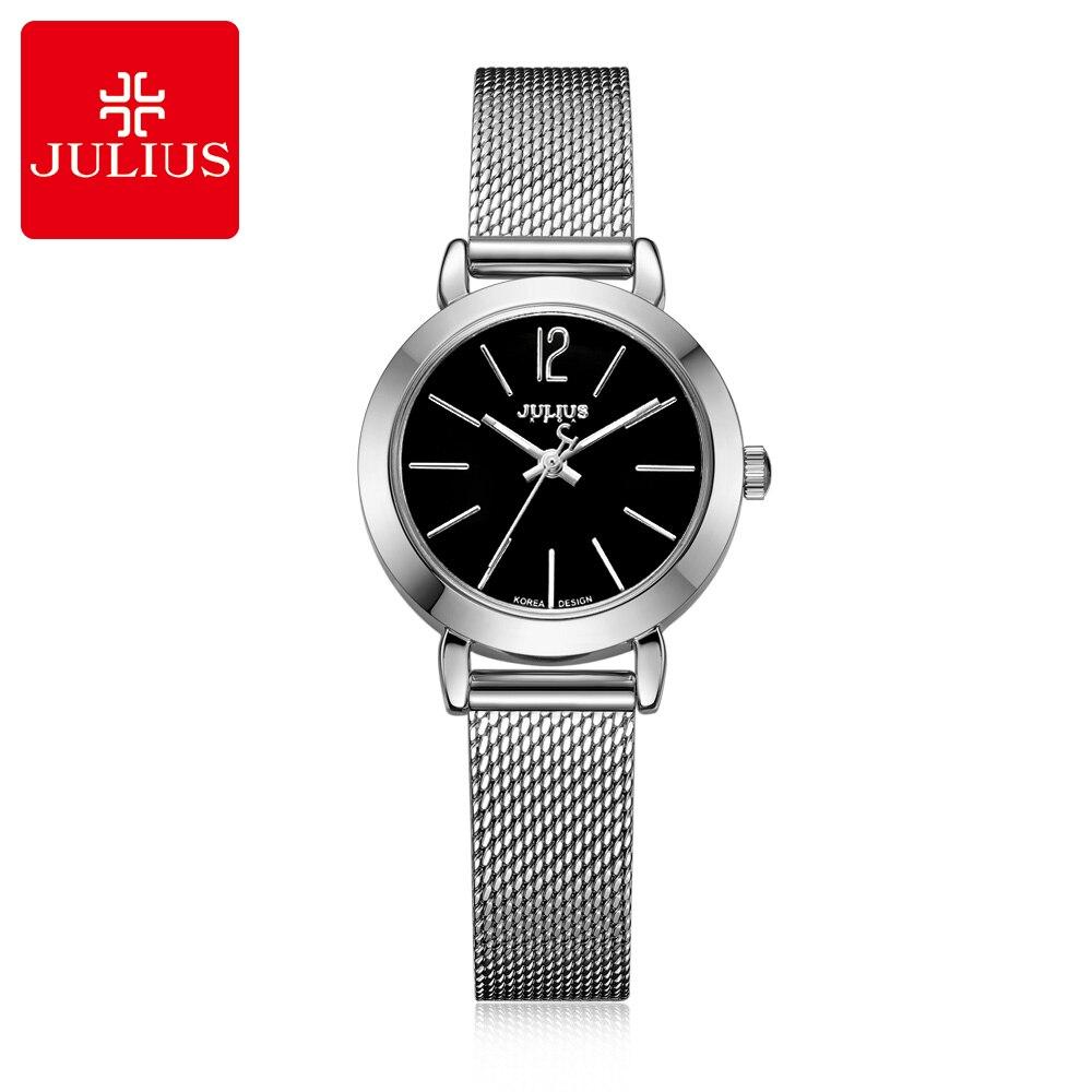2017 hot New women luxury dress full steel watche fashion casual Japan quartz wrist watch Top brand Julius 732 Gold silver clock rga r 981 sports watche red