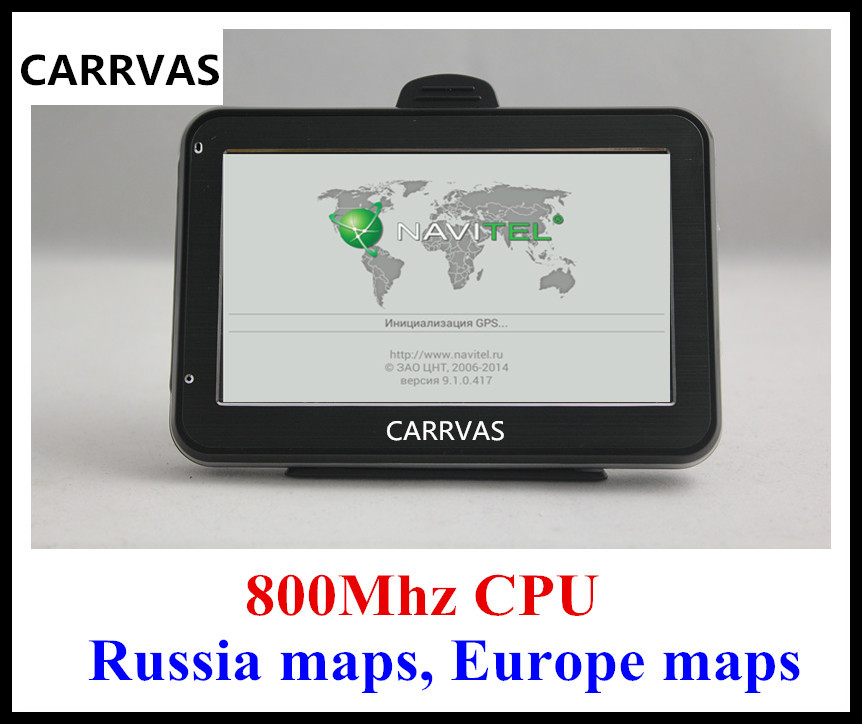 HOT in Russia 4 3 car GPS auto GPS navigator 800Mhz CPU DDR 128 MB built