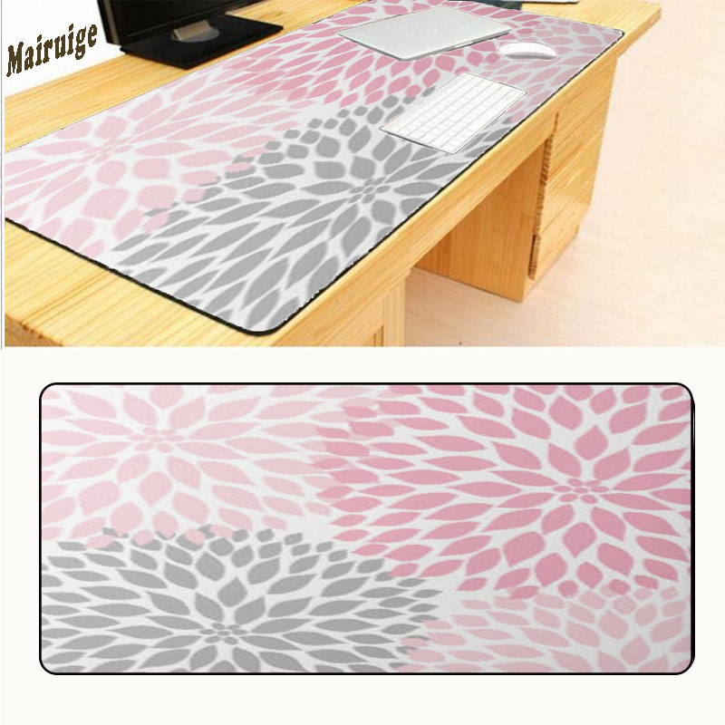 Mairuige Flowers Print Gaming Mouse Pad Gamer Mouse Mat Pad Game High Quality Computer Desk Padmouse Keyboard Large Play Mats