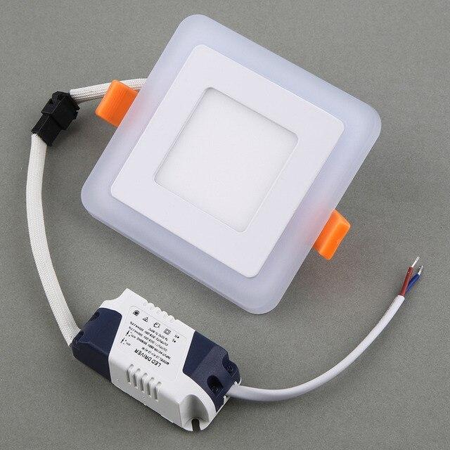 ניתן לעמעום LED Downlight פנל תקרת בהירות גבוהה אורות לוח כיכר שקוע מנורות לבית מגניב לבן, whte החם