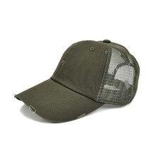 5c12c74e775 VOBOOM Frayed Baseball Cap Men Women Olive Green Washed Cotton Adjustable  Mesh Trucker Net Hat 020