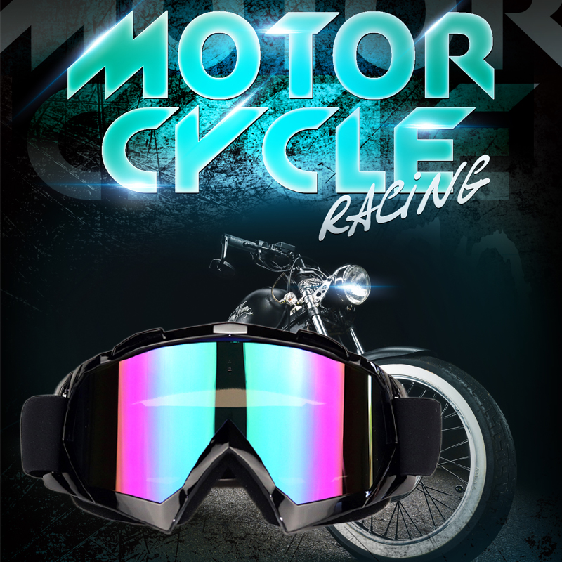 Motorcycle Riding Goggles Ski Snowboard Glasses Motorcross Off Road Dirt Bike Downhill Enduro Dustproof half face Mask Goggles in Cycling Eyewear from Sports Entertainment