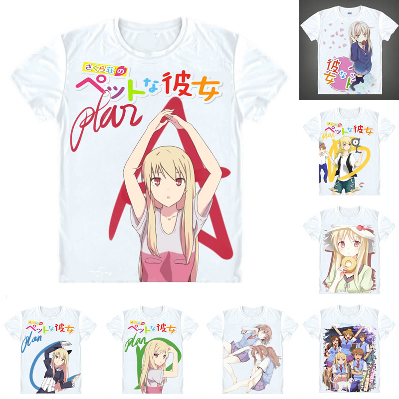 Coolprint Anime Shirt The Pet Girl of Sakurasou T-Shirts Short Sleeve Female Protagonist ...