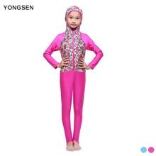 YONGSEN Modest Women Girls Long Sleeve Jewish Hijab Full Coverage Swimsuit Muslim Modest Swimwear Burkinis