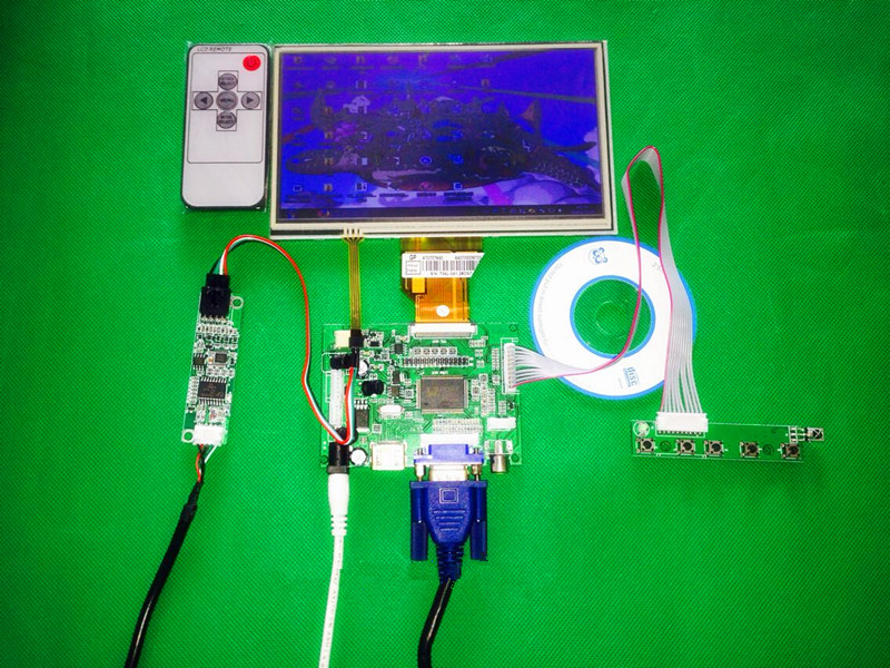 for INNOLUX 7 inch Raspberry Pi LCD Touch Screen Display TFT Monitor AT070TN92 with Touch screen