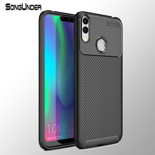 Huawei Honor 8X Case Cover Carbon Fiber Soft Silicone Back for 8C Max 8Xmax Phone Coque