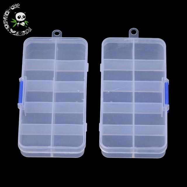 Plastic Bead Storage Containers Stationary 10 Compartments Random