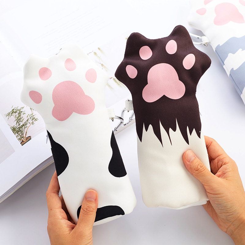 Cat's Paw Pencil Bag Novelty Cat Claws Pencil Case As Kawaii Gift for Girls outdoor 4 led solar powered garden wall yard fence light gutter security lamp with off on switch