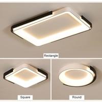 NEO Gleam прямоугольный современный светодиодный потолочный светильник для спальни Кабинет гостиная Круглый/квадратный черный + белый готовый
