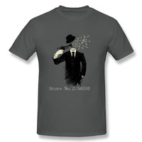 Cool T Shirt Men Plus Size Blown Music Notes Man Crewneck T Shirt Hot Selling