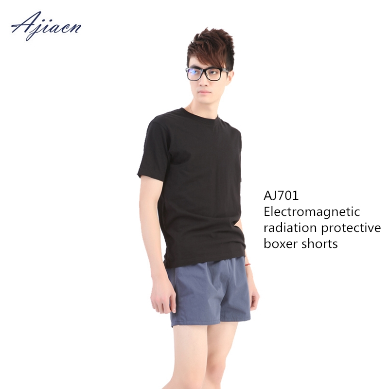 Ajiacn Genuine Men's Anti-radiation Shorts Electromagnetic Radiation Shielding Comfortable Breathable Boxer Shorts