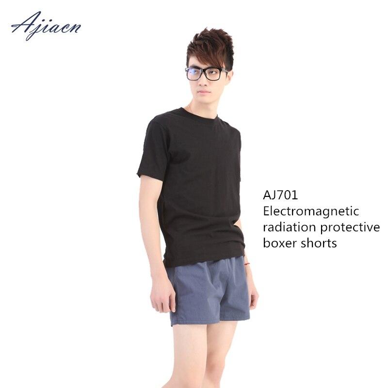 Ajiacn Echte Männer Anti-strahlung Shorts Elektromagnetische Strahlung Abschirmung Atmungsaktivem Boxer Shorts