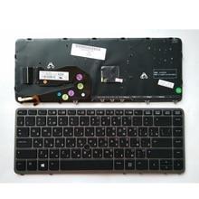 Ru جديد لإتش بي elitebook 840 g1 850 g1 zbook 14 hp 840 g2 الأسود الروسي الخلفية