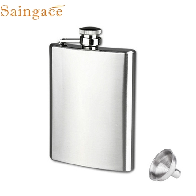 Zero 8oz Stainless Steel Pocket Hip Flask Alcohol Whiskey Liquor Screw Cap + Funnel