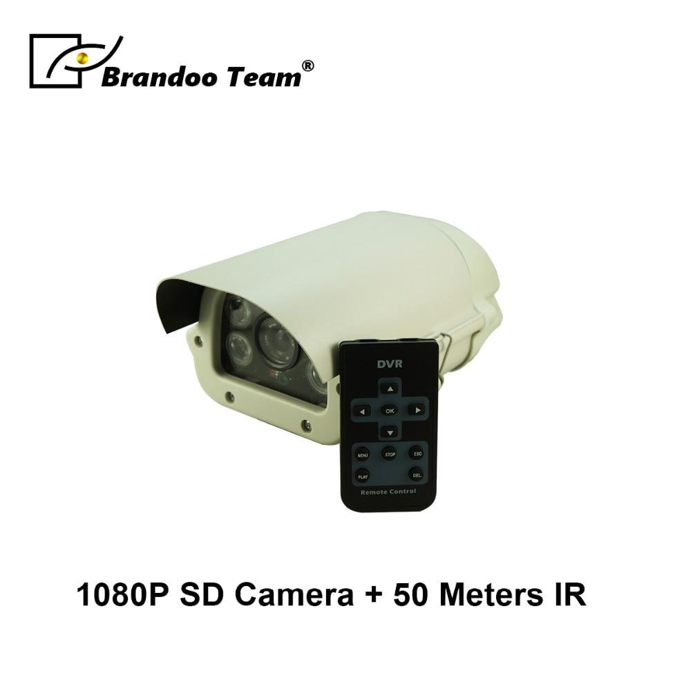 1080P SD Camera Support Max 128GB SD Card Waterproof 1080P CCTV Camera