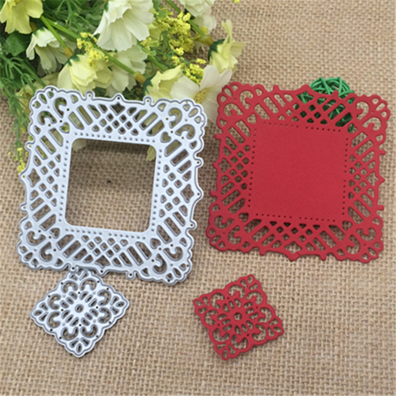 Bud silk square Metal Cutting Dies Stencil Scrapbooking Photo Album Card Paper Embossing Craft DIY placemat