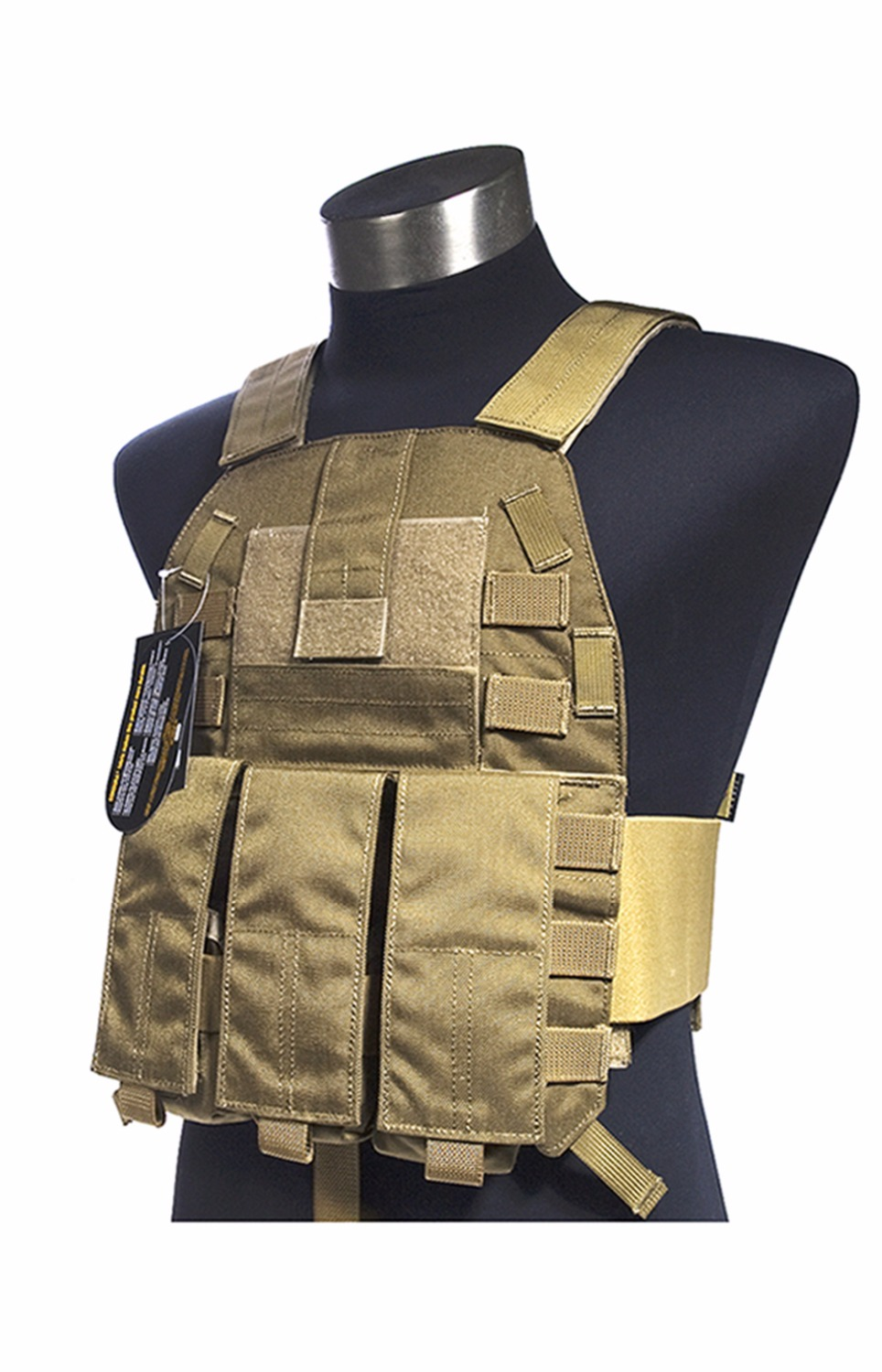 Mil Spec Military LT6094K Coyote Brown CB Plate Carrier Combat Molle Tactical Vest  Army Military Combat Vests & Gear Carrier 97 3102a 36 10s 604 circular mil spec recept mr li