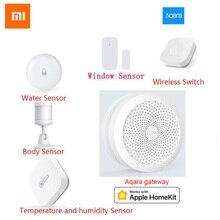 Original XiaoMi aqara Smart Home Kits Gateway Hub Tür Sensor Menschlichen Körper Drahtlose Schalter Feuchtigkeit Wasser Sensor Für Apple Homekit
