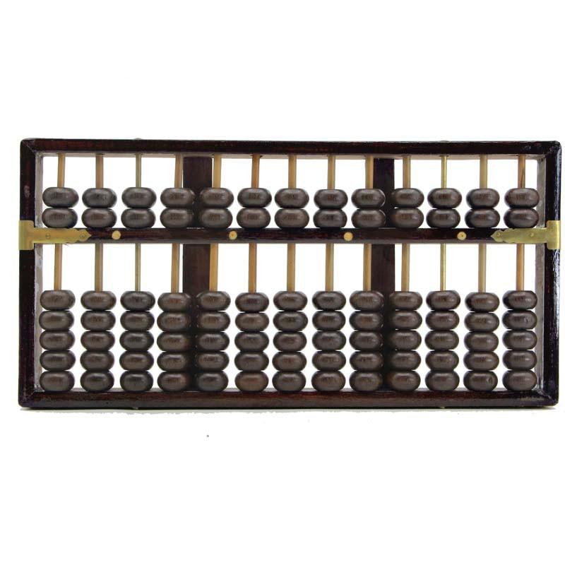 Haute qualité 13 colonne bois massif Abacus chinois soroban outil en mathématiques éducation outil de calcul yo025