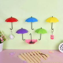 Colorful Umbrella Wall Hook Key Hair Pin Holder Organizer Decorative 3 pcs