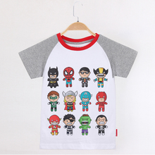 Kids Clothes Cartoon Superhero Boys T Shirt Cool Children Clothing 100 Cotton Short Raglan Sleeve Child Tees Baby Tops Summer love kids baby boys clothes cool summer superman short sleeve t shirt cotton tops clothes lxl