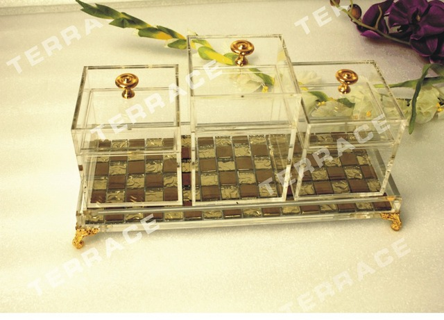 4pcslot Clear Acrylic Jewelry BoxLucite Storage Container Display