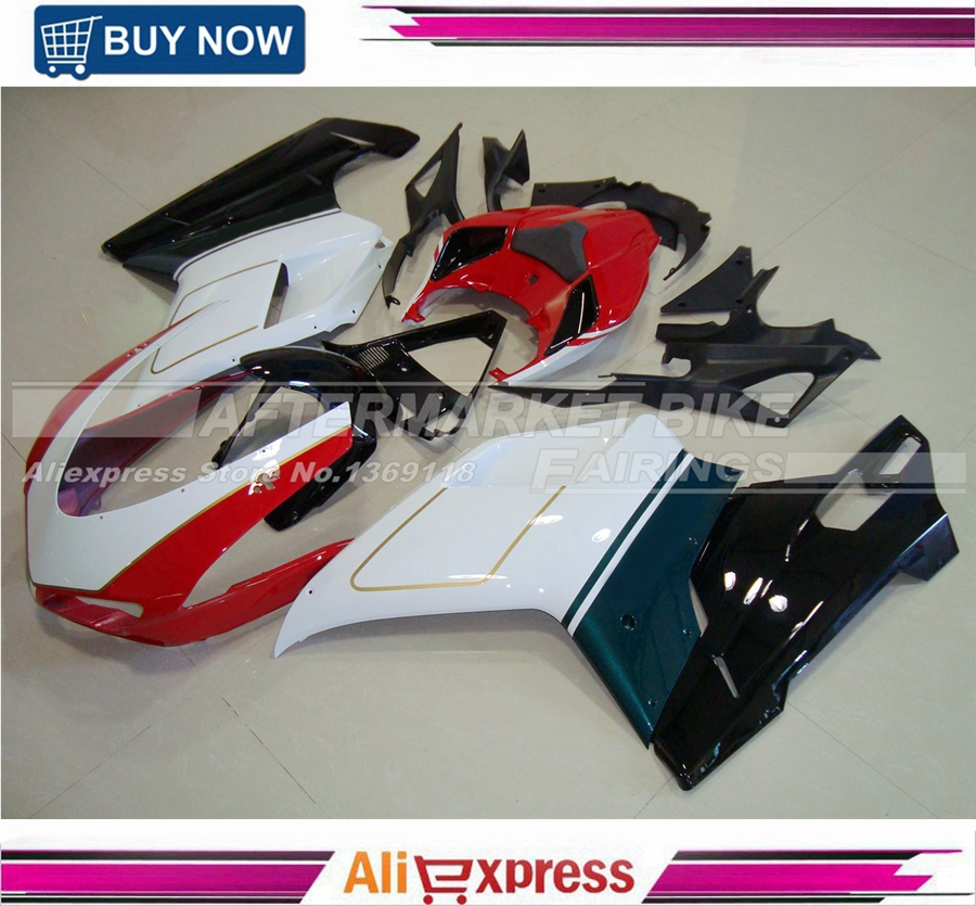 1098 / 848 / 1198 2007 2008 2009 2010 2011 Injection Fairing Bodywork For Ducati Motorcycle ABS Fairings Kits Tri-color fairings fit honda cbr1000rr 08 09 10 11 2008 2009 2010 2011 injection abs motorcycle fairing kit bodywork cowling eurobet