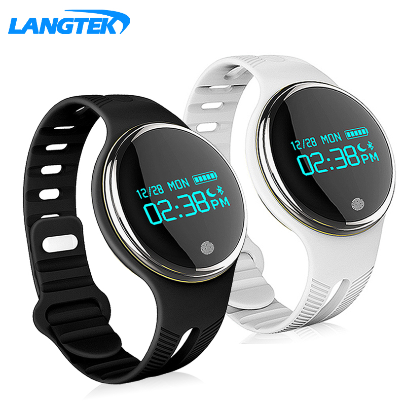Langtek New E07 Sports Wristband Fitness Tracker Intelligent IP67 Bandage Swimming Pool Bluetooth 4 0 Smartband