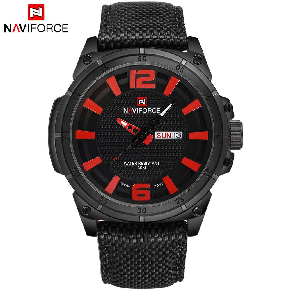 Prix pour 2017 Nouveau Mode De Luxe Marque NAVIFORCE Hommes Armée Militaire Montres Hommes de Quartz Horloge Homme Sport Montre-Bracelet Relogios Masculino