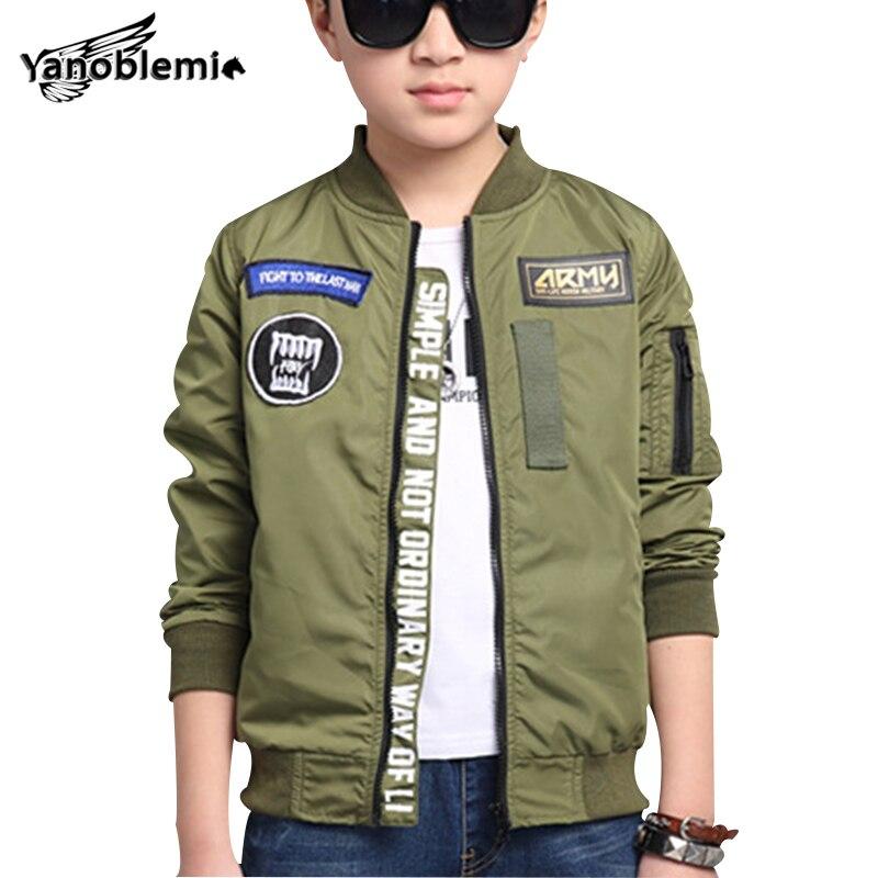 Children Spring Baseball Sport Jackets Boys Letter Outwear Boy Bomber Pattern Jacket Kids Zipper Clothes Children