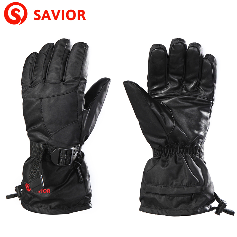 где купить Savior S-02B winter use outdoor sports waterproof ski gloves biking hiking fishing lithium battery electric heating keep warm по лучшей цене