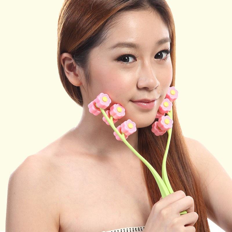Rose Shape Face Up Roller Massage Slimming Remove Anti Wrinkle Face Slimmer Massage Beauty Massager Roller Face Skin Care Tool