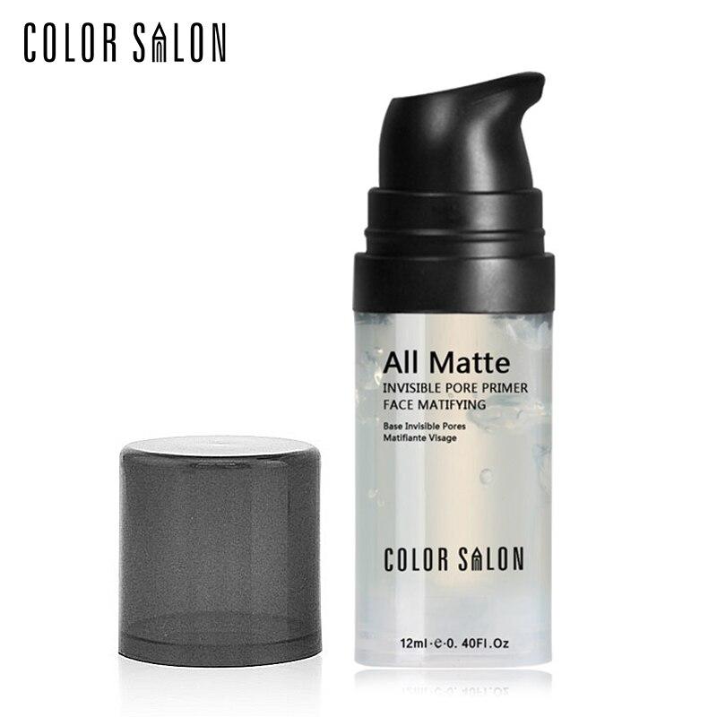 Color Salon Face Smoothing Primer 12ml Natural Matte Naked Pores Invisible Prolong Makeup Base Facial Skin Oil-control Cosmetic