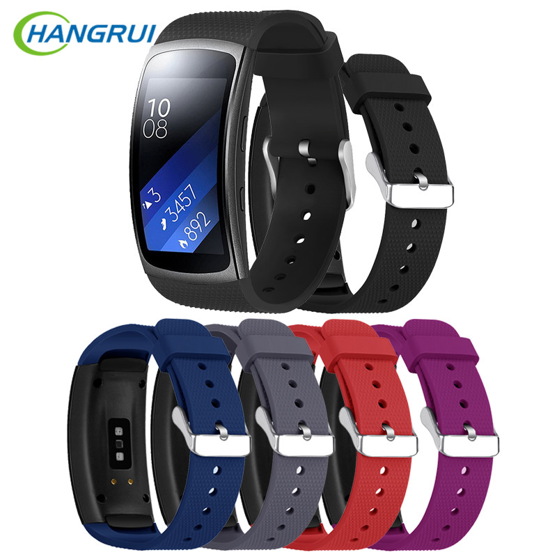 HANGRUI Sport Siliconen Band Voor Samsung Galaxy Gear Fit2 Pro Band - Slimme elektronica