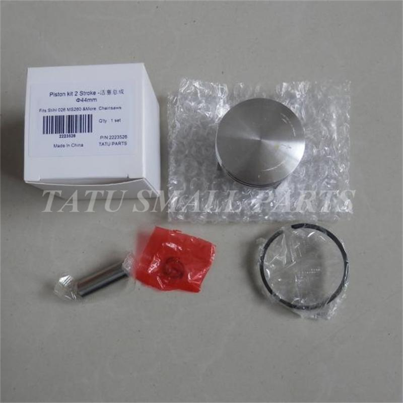 44MM  PISTON KIT FOR CHAINSAW 026 MS260 CYLINDER ASSMEBLY KOLBEN RINGS PIN CLIP ASSY REPL. P/N 1121 030 2001 manufacturers 5200 chainsaw cylinder assy cylinder kit 45 2mm parts for chain saw 1e45f on sale