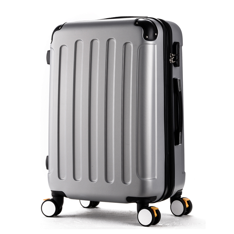 Wholesale!High quality 24inches candy color abs pc travel luggage bags on brake universal wheels,hardside suitcase for girl