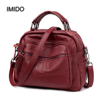 IMIDO 2017 Christmas Gift Women Handbag Soft PU Leather Ladies Shoulder Crossbody Bags Brand Designer Handbags