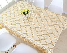 Fyjafon PVC Table Cloth Waterproof Oilproof Rectangular Tablecloth Very Thick Anti-slip Muti-sized