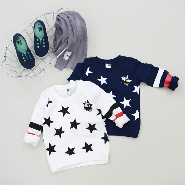 2017 Children Clothing Brand Autumn Boy Soldier Shirt Sweater Guangzhou Stitchg Children Clothing Free Shipping