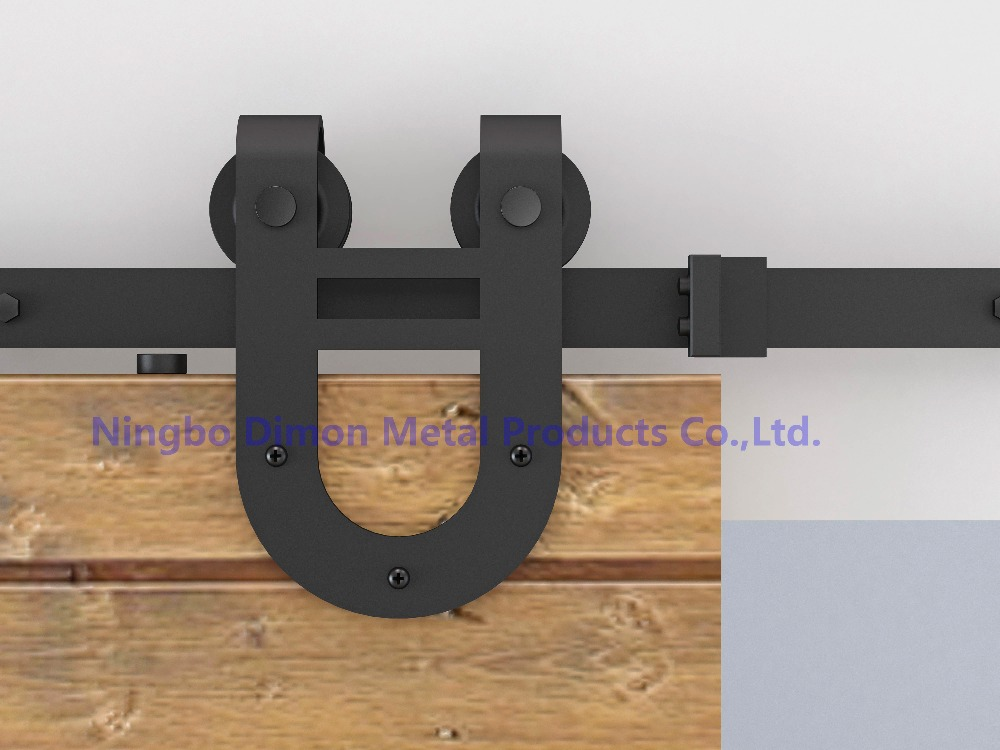 Free Shipping Dimon Two Heads Wheels Wood Sliding Door Hardware DM-SDU 7203 With Damper Kits (without Sliding Rail)