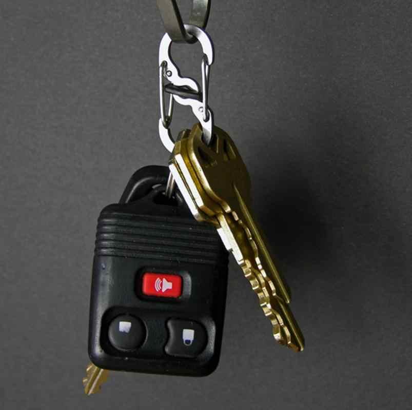 حلقة تسلق مشبك خاطف تسلق المفاتيح على ظهره مكافحة سرقة شنق مشبك شنقا 8-شكل أدوات التخييم في الهواء الطلق معدات 1 قطعة