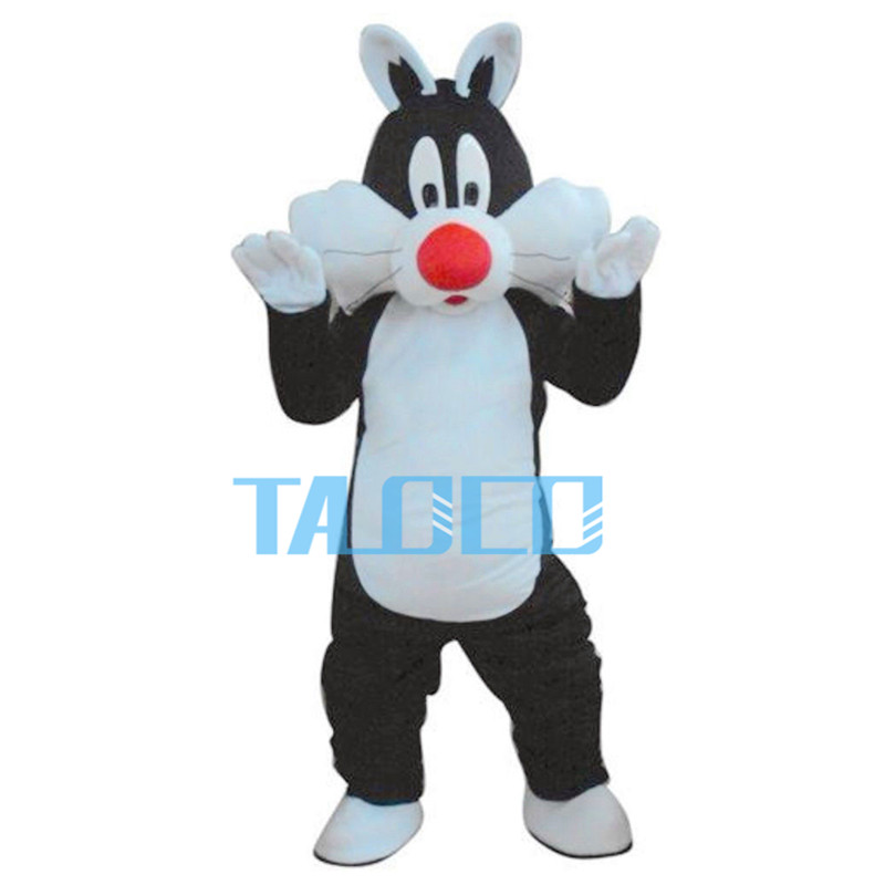Sylvester Cat Mascot Costume Cartoon Fancy Dress Outfit Free Ship Adult Size