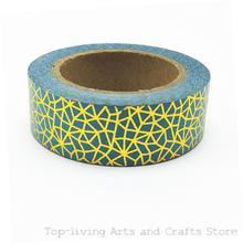 1pc/Sell Green Nets Foil Washi Tape Set Japanese Stationery Scrapbooking Decorative Tapes Adhesive Tape Kawai Adesiva Decorativa