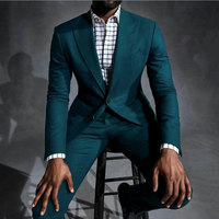 Casual Green Men Suits Pants for Business Beach Wedding Man Blazer Man Jacket Groom Tuxedos 2Piece Terno Masculino Costume Homme