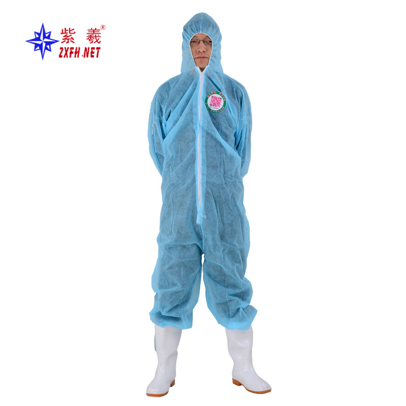 Non woven overall suit laboratory protective suit