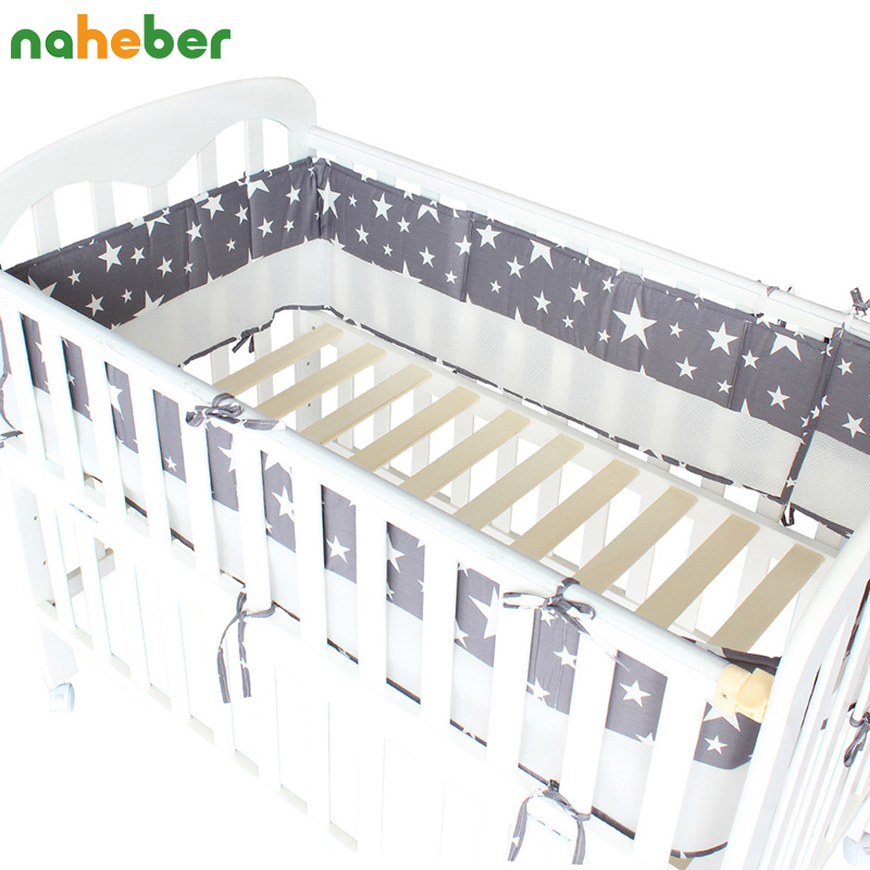 1 Pcs Mesh Crib Bumpers Breathable Star Crown Tree Cloud