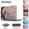 Japan Cherry blossoms pink beautiful printed Case For New Apple MacBook Pro 13 15 with Retina Mac Air 11.6 12 13.3 inch cover