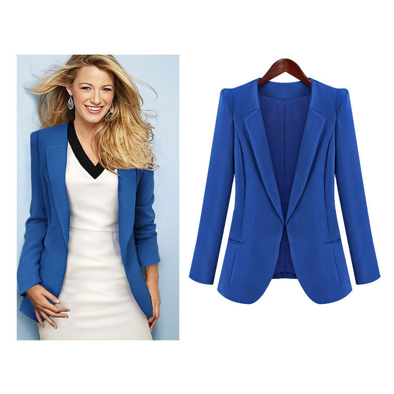 Chaqueta azul de mujer